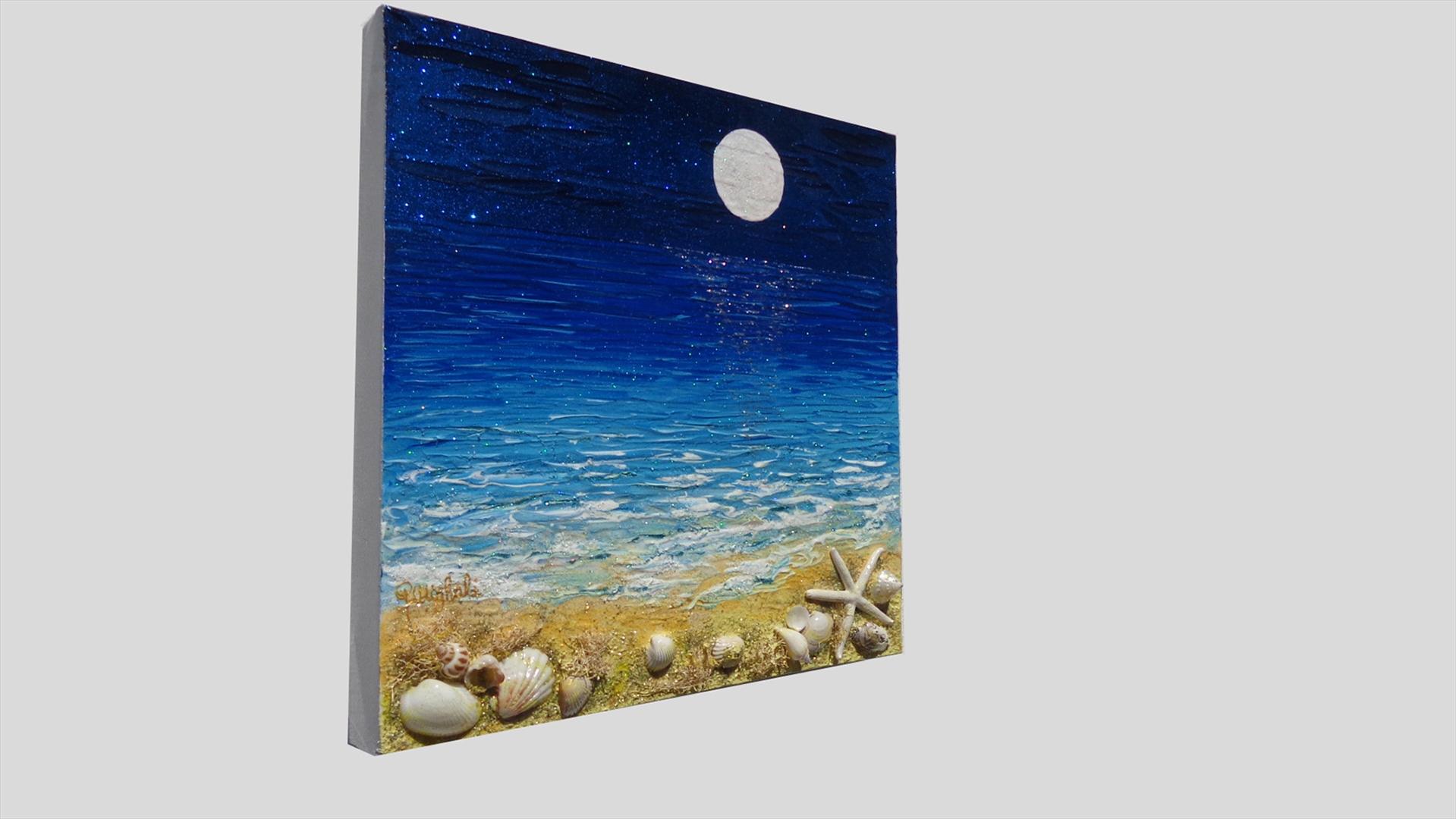Ricordi del mare con luna | Vendita Quadri Online | Quadri moderni ...
