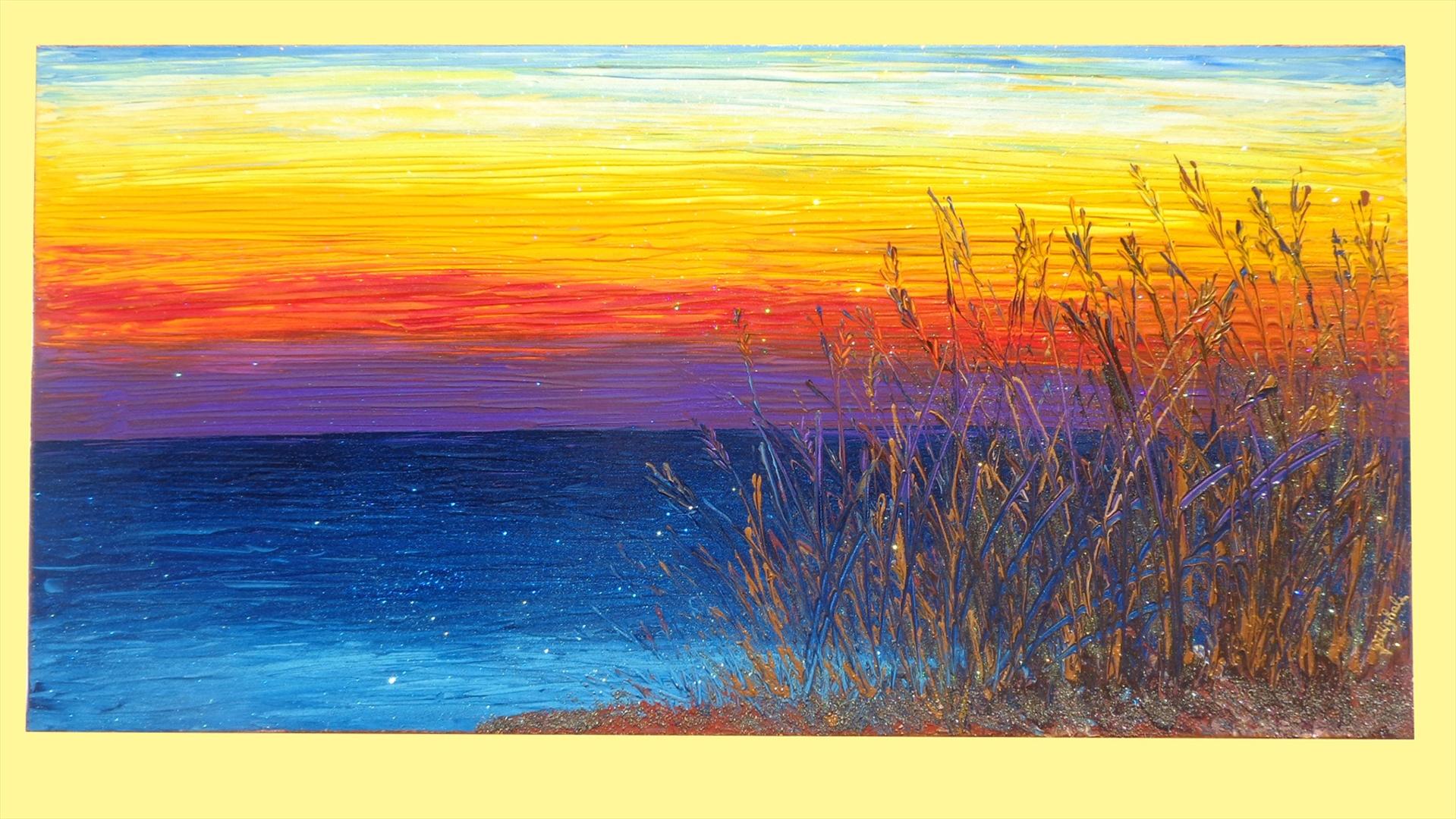 Paesaggio di mare con barche vendita quadri online quadri for Tele quadri