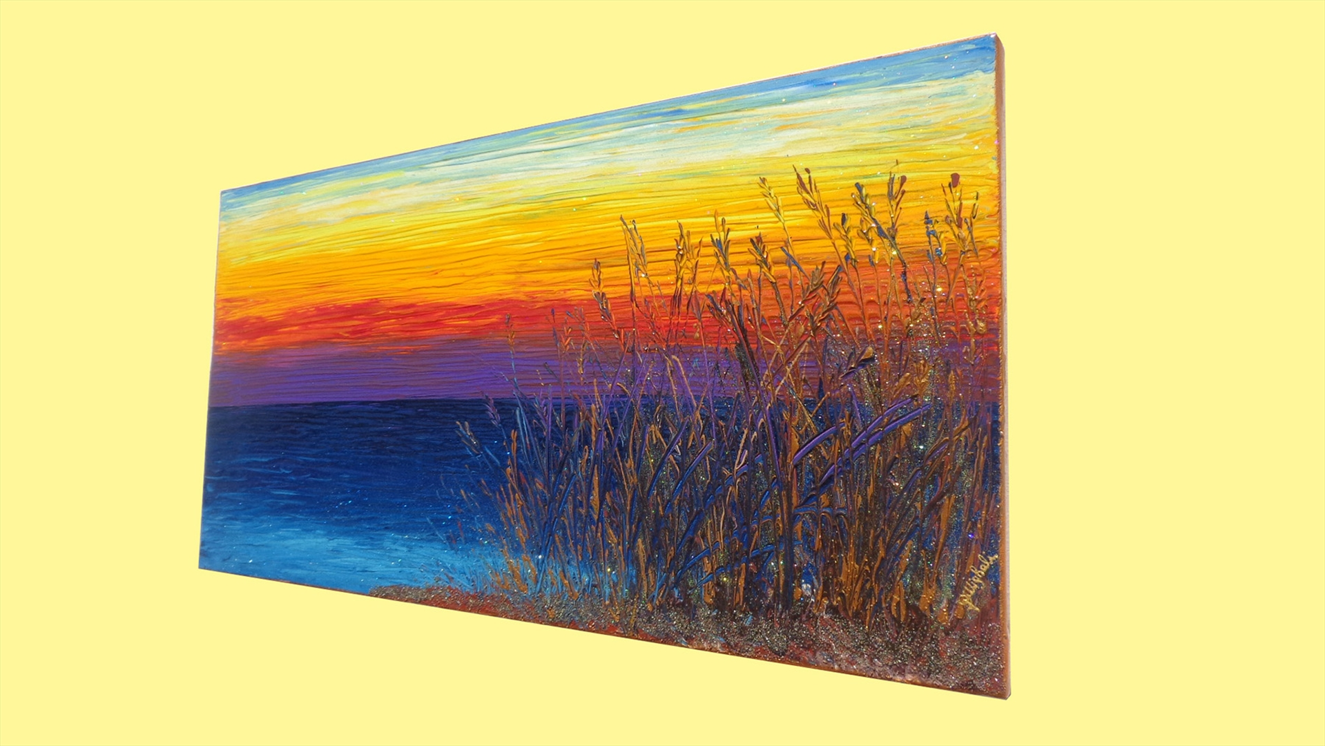 Tramonto sul mare vendita quadri online quadri moderni for Quadri moderni astratti dipinti a mano