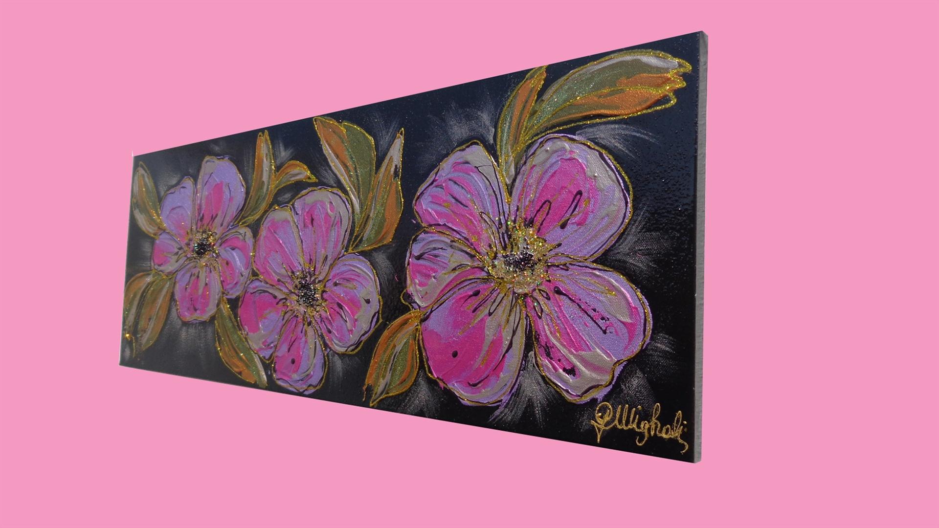 Tre fiori viola vendita quadri online quadri moderni for Quadri vendita online