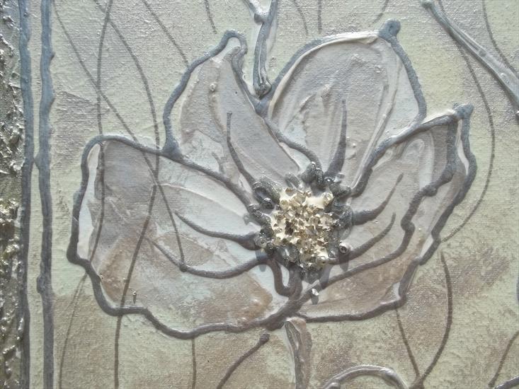 Fiori in chiaro astratto vendita quadri online quadri for Quadri materici astratti