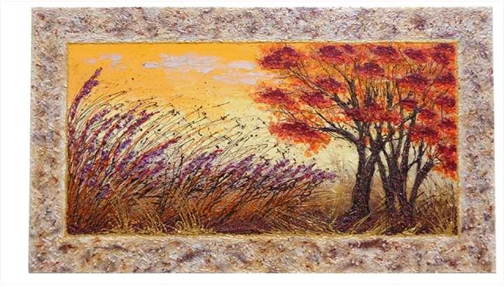 Colori al tramonto paesaggio vendita quadri online for Quadri astratti materici