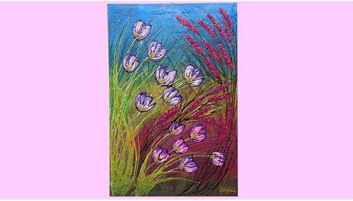 Fiori in primavera vendita quadri online quadri for Quadri astratti online