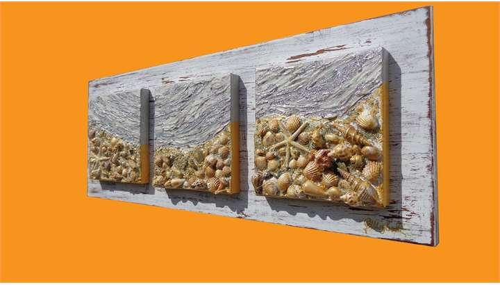 Conchiglie di mare shabby vendita quadri online quadri for Quadri moderni vendita