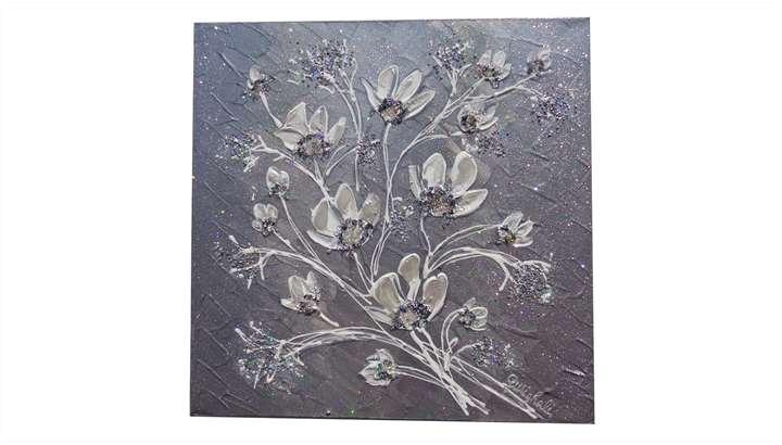 Magnolie in blu vendita quadri online quadri moderni for Quadri moderni fiori dipinti a mano