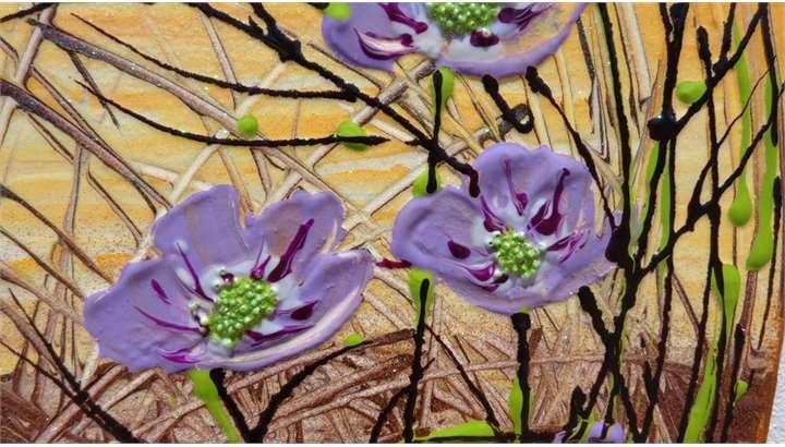Fiori astratti lilla vendita quadri online quadri for Quadri moderni fiori dipinti a mano