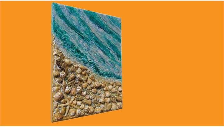 Mare con conchiglie vendita quadri online quadri for Quadri a rilievo moderni