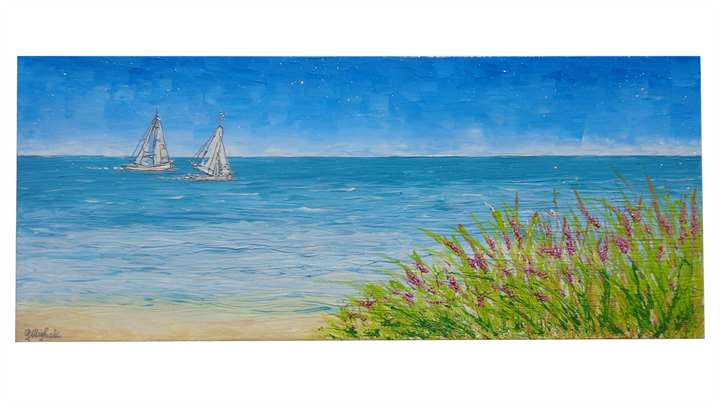 Ricordi del mare vendita quadri online quadri moderni for Quadri dipinti a mano paesaggi