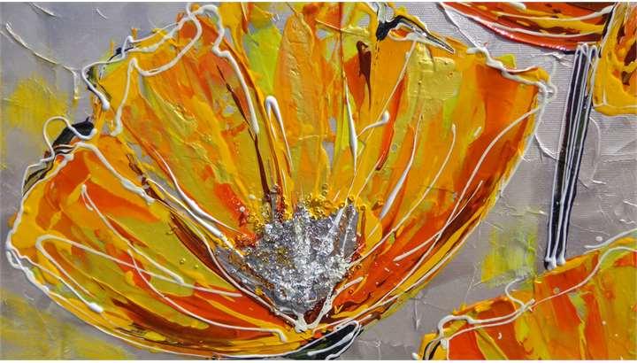 Papaveri moderni arancioni vendita quadri online for Quadri vendita online