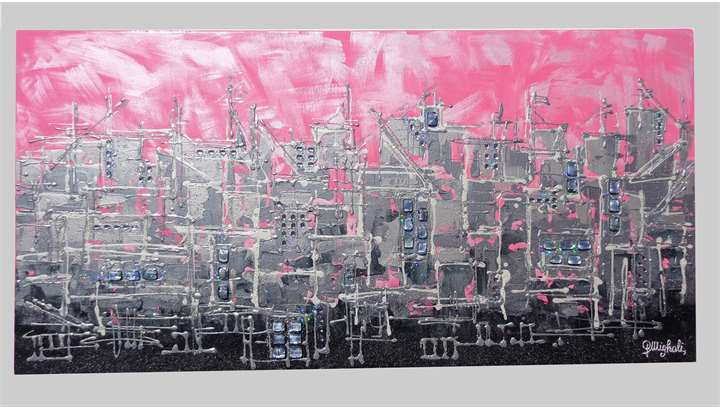 Pink city citt rosa vendita quadri online quadri for Quadri astratti on line