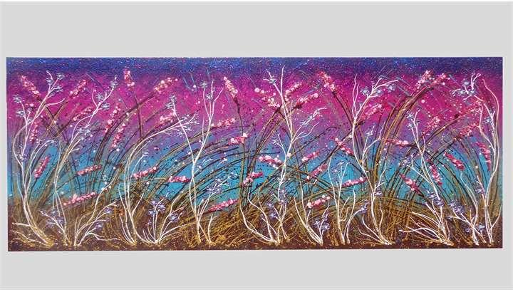 Fiori sfumati al vento vendita quadri online quadri for Immagini dipinti astratti