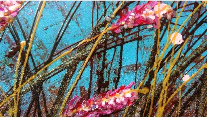 Fiori sfumati al vento vendita quadri online quadri for Quadri materici astratti