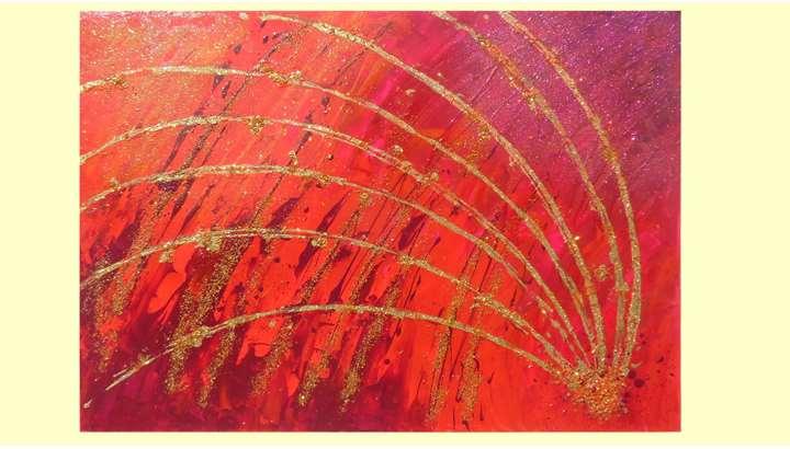 Sfavillio in rosso vendita quadri online quadri for Immagini quadri moderni astratti