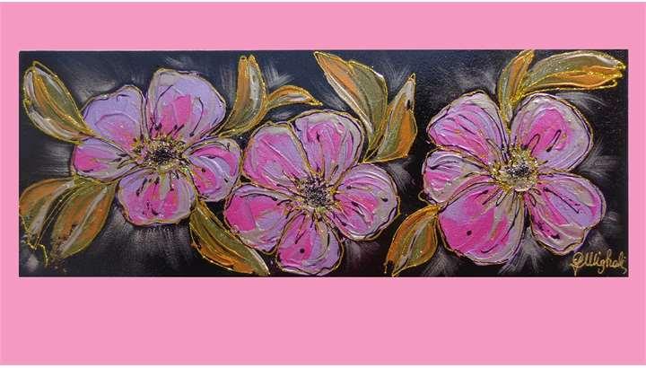 Tre fiori viola | Vendita Quadri Online | Quadri moderni | Quadri ...