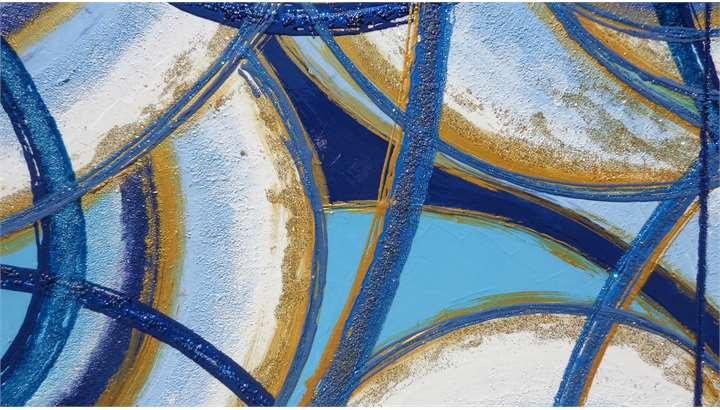 Volute astratte in blu vendita quadri online quadri moderni quadri astratti quadri - Dipinti per camera da letto ...